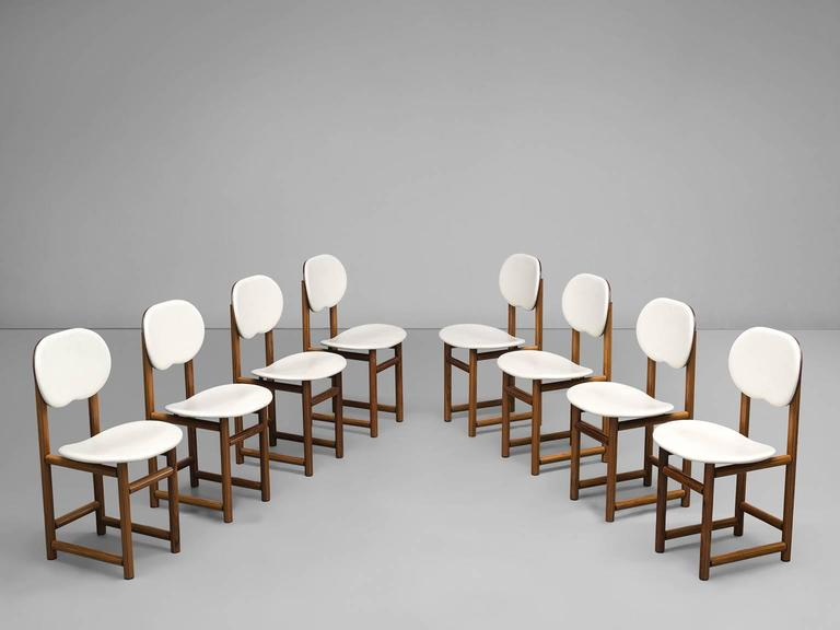 Afra and Tobia Scarpa Rare Set of of Dining Chairs in Walnut 4