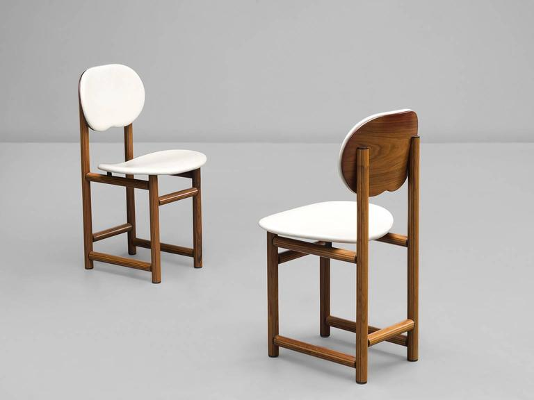 Afra and Tobia Scarpa Rare Set of of Dining Chairs in Walnut 5