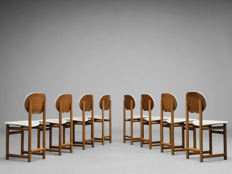 Afra and Tobia Scarpa Rare Set of of Dining Chairs in Walnut 2