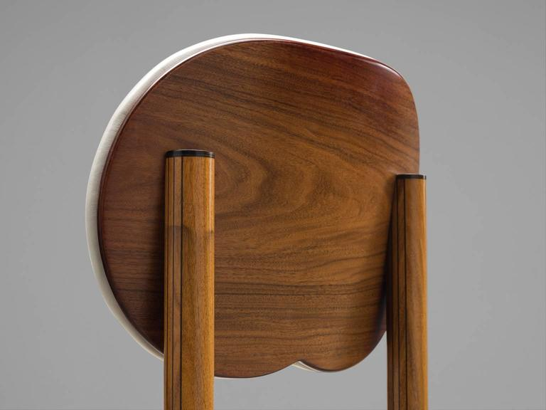 Afra and Tobia Scarpa Rare Set of of Dining Chairs in Walnut 6