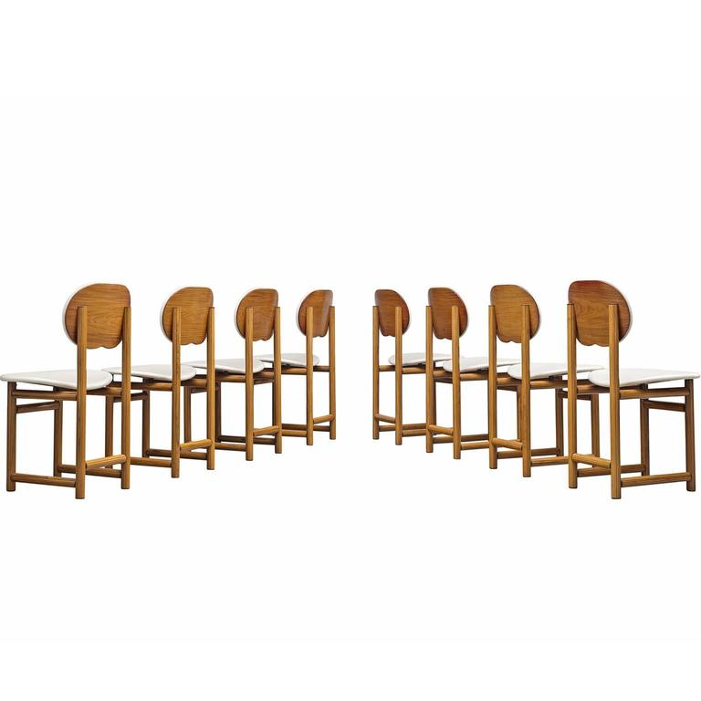 Afra and Tobia Scarpa Rare Set of of Dining Chairs in Walnut 1