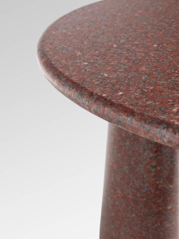 Late 20th Century Architectural Stone Coffee Table in Balmoral Red For Sale