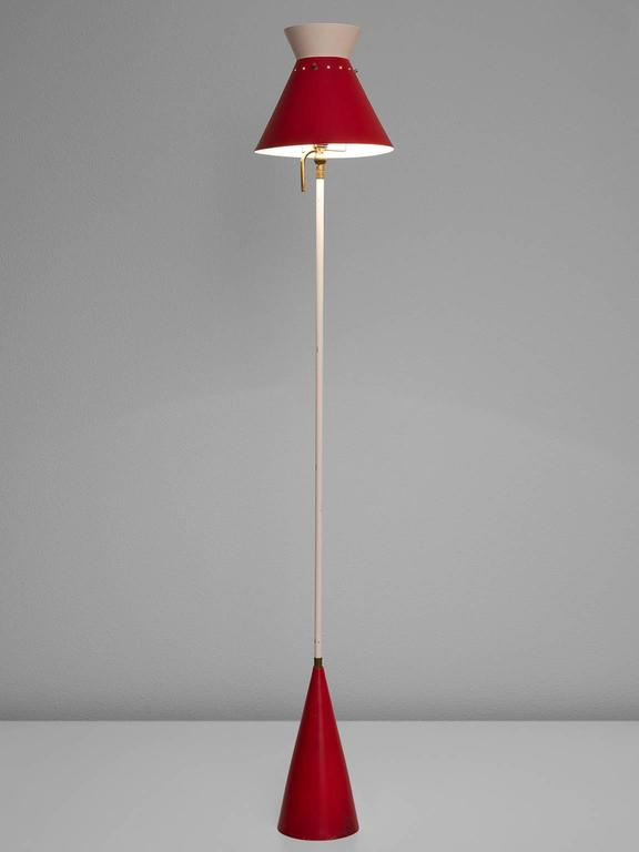Red Aluminium Gilardi Floor Lamp 2