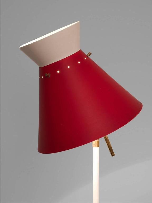 Red Aluminium Gilardi Floor Lamp 3