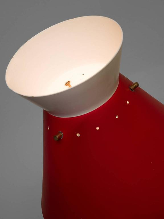 Red Aluminium Gilardi Floor Lamp 4