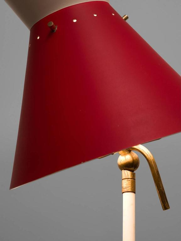 Red Aluminium Gilardi Floor Lamp 5