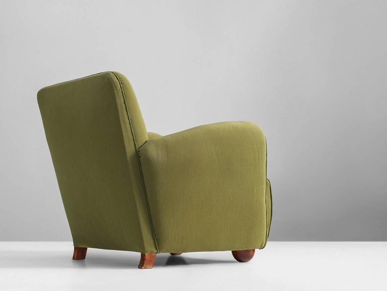 Sturdy Olive Green European Armchair, 1950s For Sale At 1stdibs