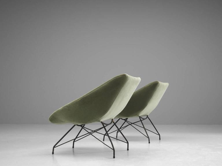 Brazilian Carlo Hauner Pair of Lounge Chairs, 1960s For Sale