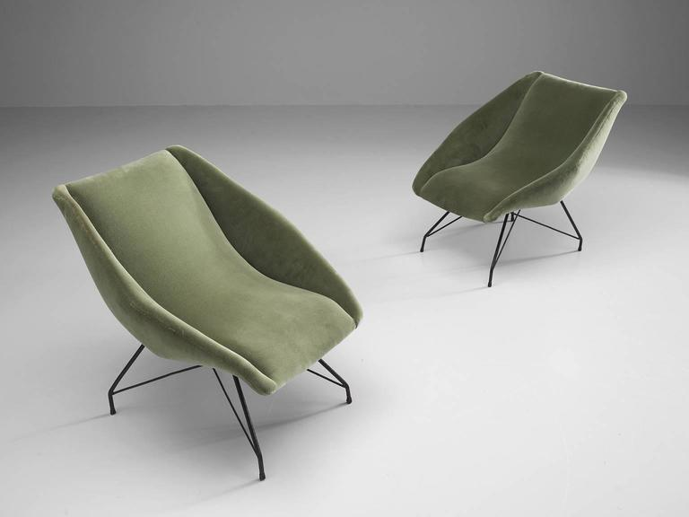 Carlo Hauner Pair of Lounge Chairs, 1960s In Excellent Condition For Sale In Waalwijk, NL