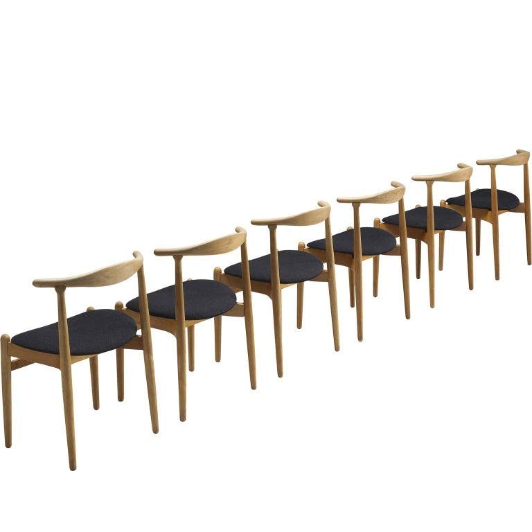 Danish Set of Six Oak Dining-Room Chairs