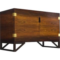 Svend Langkilde Cabinet in Rosewood and Brass