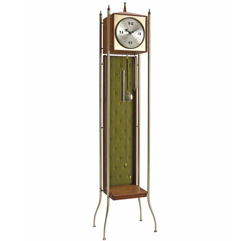 Swag Leg Grandfather Clock By George Nelson 1957 For Sale