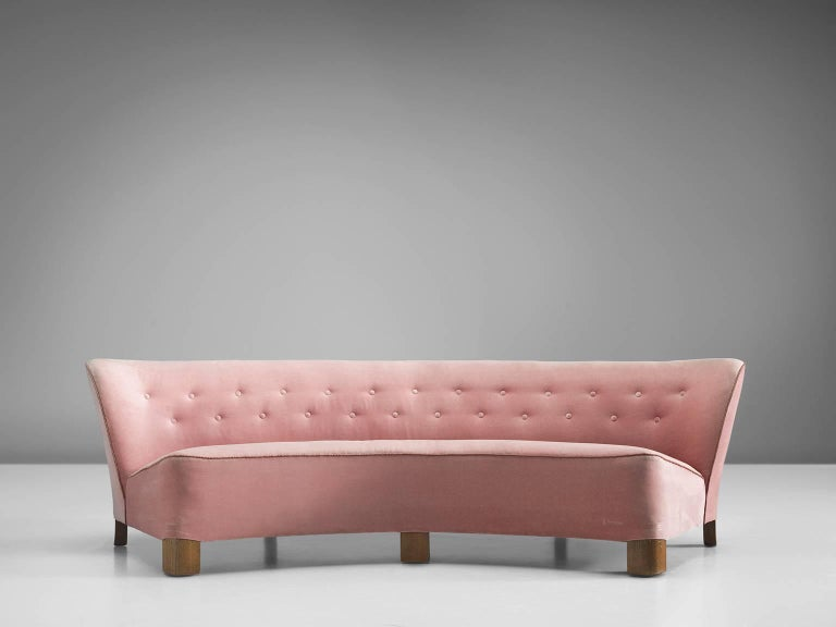 Pink Danish Settee By Otto F Rge 1940s For Sale At 1stdibs