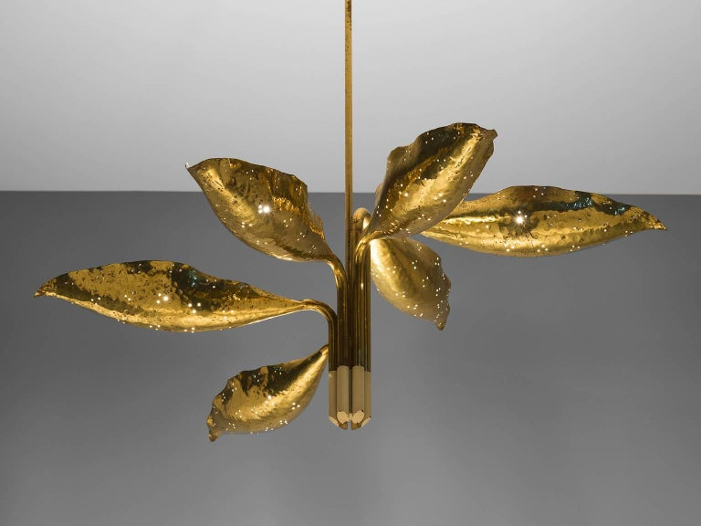 Angelo Lelii Chandelier in Brass for Arredoluce 2