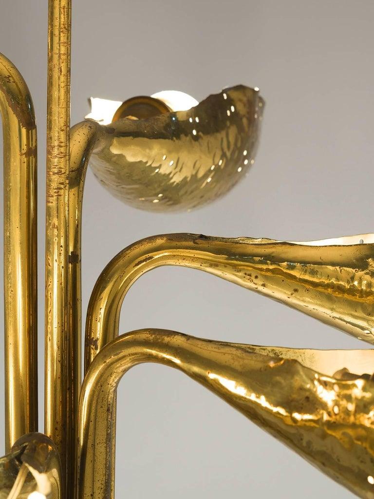 Angelo Lelii Chandelier in Brass for Arredoluce 5
