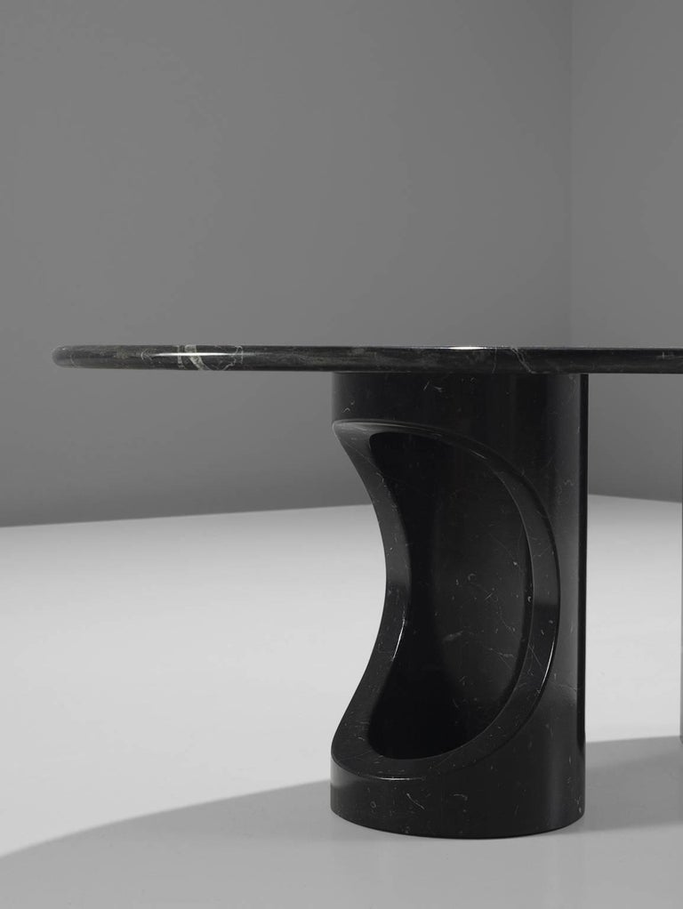 Black Marble Postmodern Coffee Table For Sale At 1stdibs