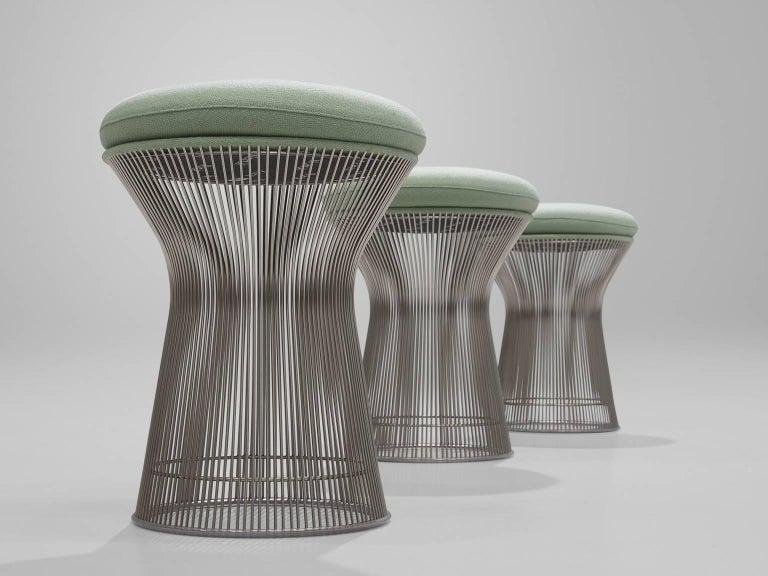 Warren Platner Fabric and Metal Stools 3