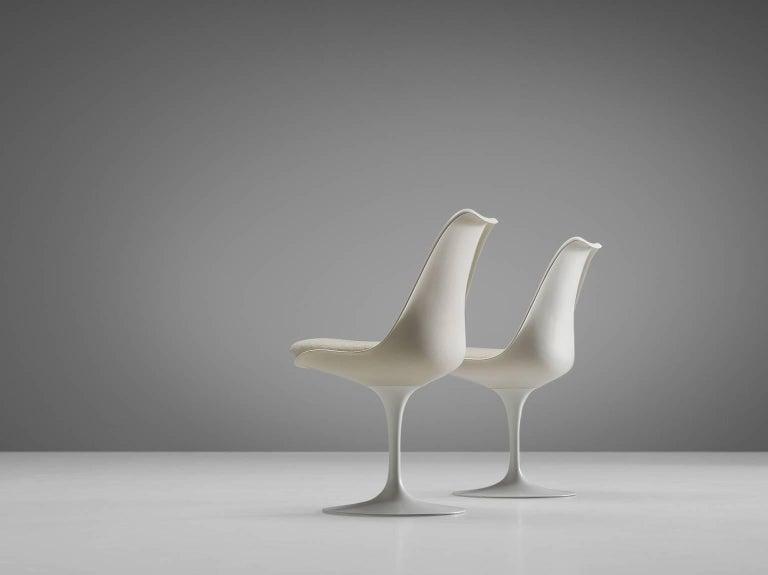 Eero Saarinen Set of Six Tulip Chairs for Knoll International In Good Condition For Sale In Waalwijk, NL