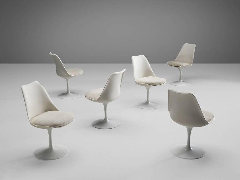 American Eero Saarinen Set of Six Tulip Chairs for Knoll International For Sale