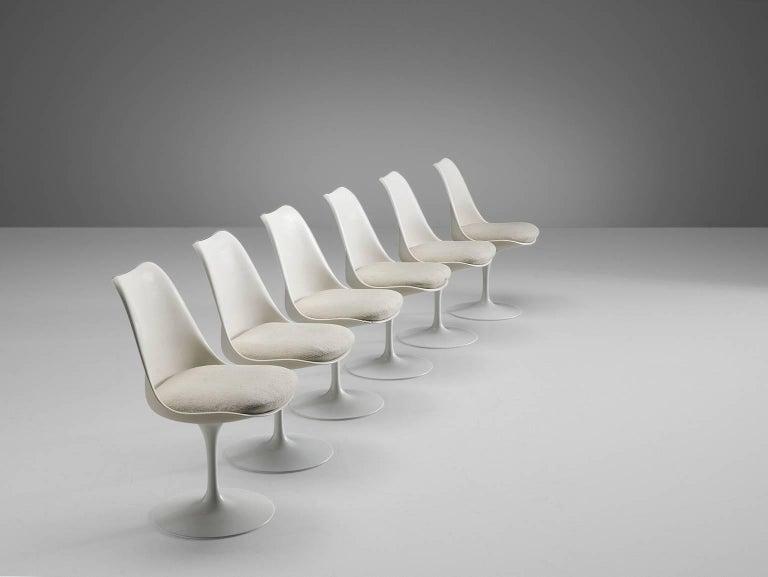 Eero Saarinen Set of Six Tulip Chairs for Knoll International 2