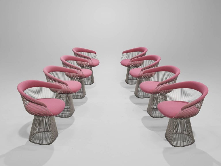 Warren Platner Set of Eight Pink Lounge Chairs 3