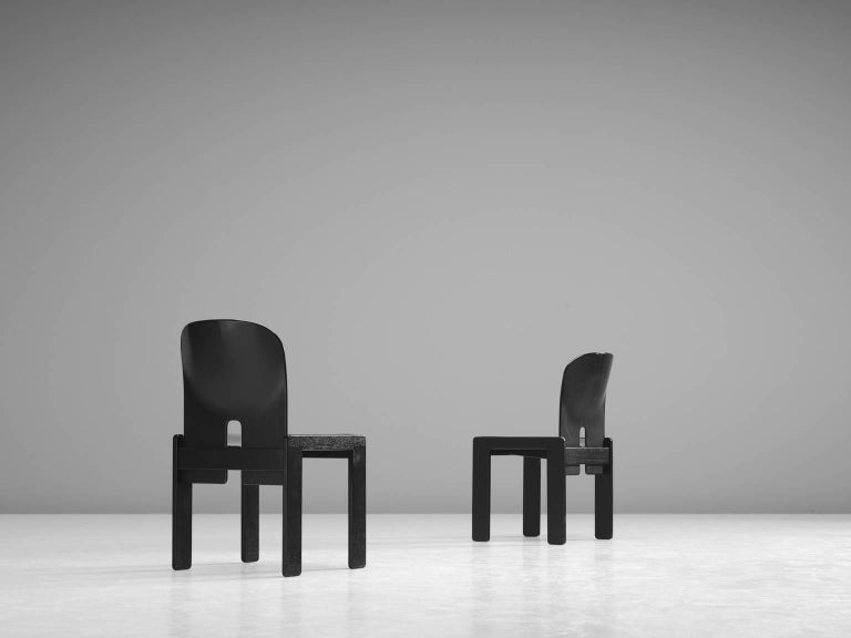 Afra and Tobia Scarpa Chairs in Black for Cassina 4
