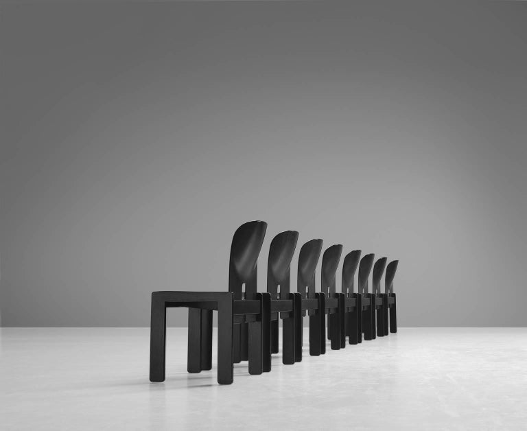 Afra and Tobia Scarpa Chairs in Black for Cassina 5