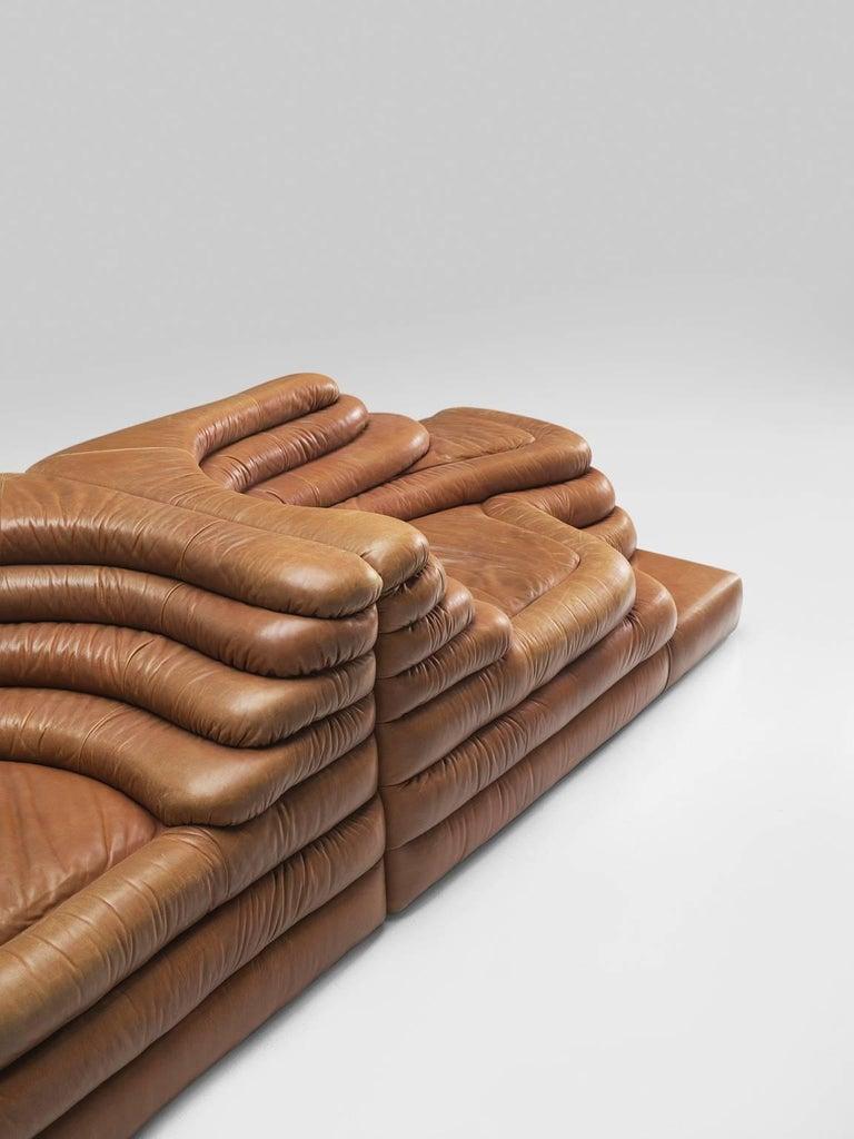 Set of Two De Sede DS1025 'Terrazza' Landscapes in Cognac Leather 1