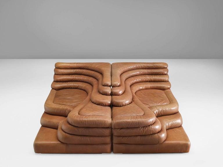 Set of Two De Sede DS1025 'Terrazza' Landscapes in Cognac Leather 2