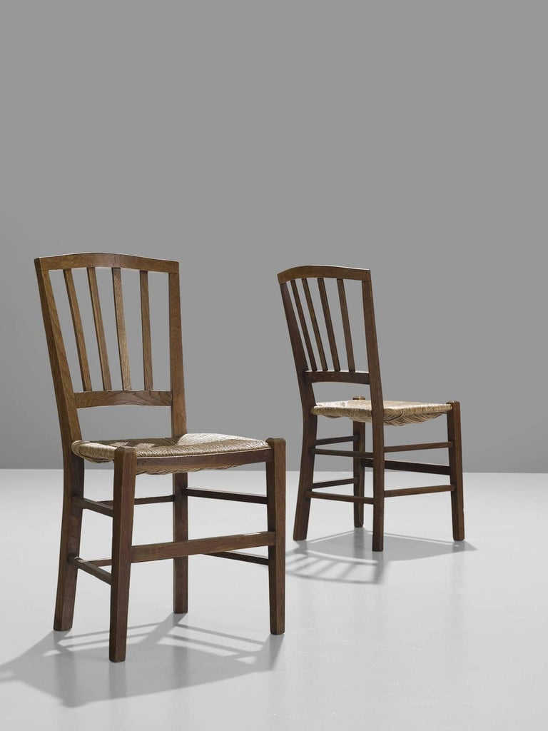 Large Set of Oak Dining Chairs, 1960s In Good Condition In Waalwijk, NL