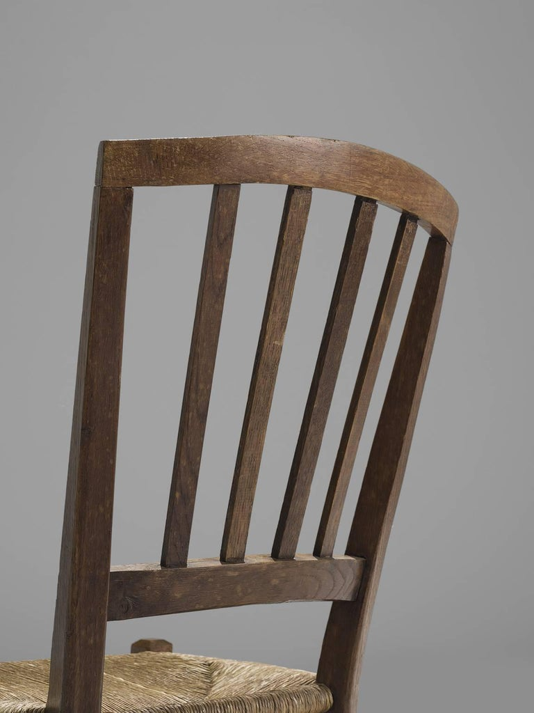 Mid-20th Century Large Set of Oak Dining Chairs, 1960s