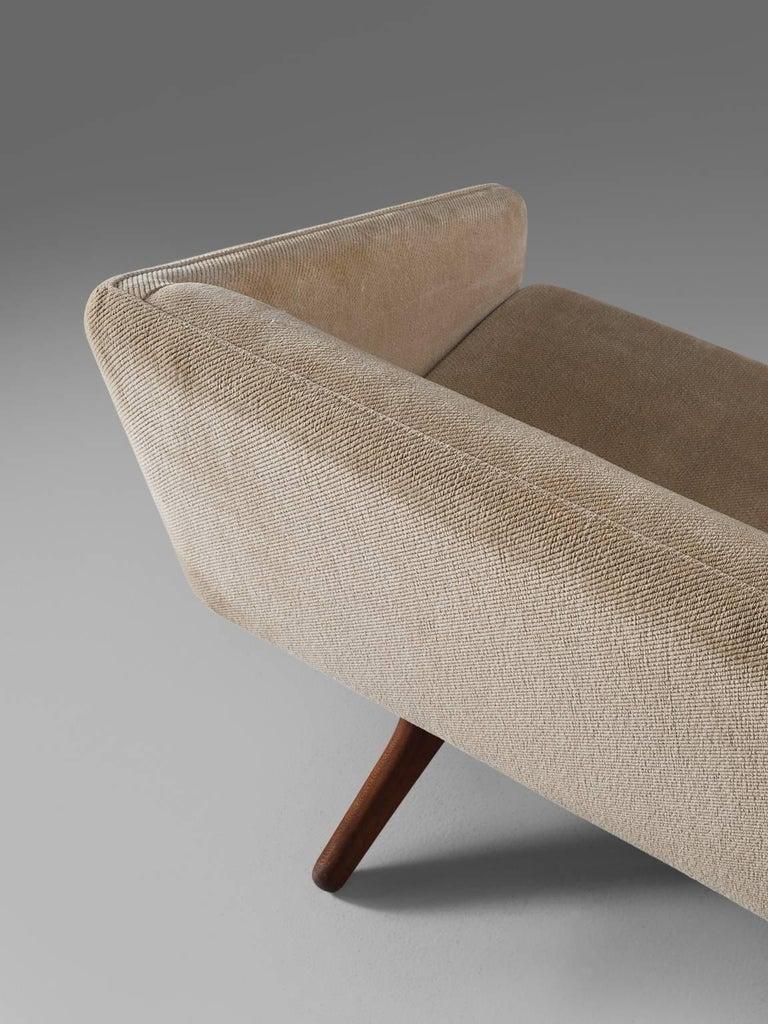 Illum Wikkels 248 Three Seat Sofa In Beige Fabric Upholstery