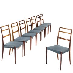 Gunni Omann Set of Eight Solid Rosewood Chairs
