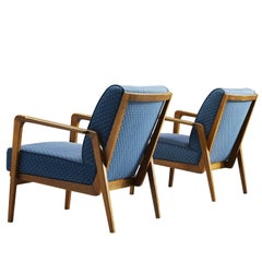 Danish Set of Elegant Armchairs in Mahogany