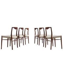 Kai Lyngfeldt Larsen Six Teak Danish Dining Chairs