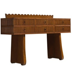 Early Italian High Credenza in Walnut, 1940s