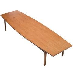Large Danish Barrel Shaped Teak Table