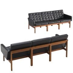 Two Ole Gjerløv-Knudsen Large 'Moduline' Three-Seat Sofas