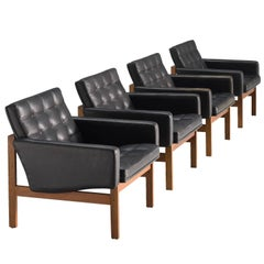 Ole Gjerløv-Knudsen Set of Four Easy Chairs for France & Søn