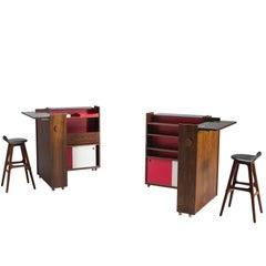 Set of Two Erik Buch Danish Drybar in Rosewood, 1960s