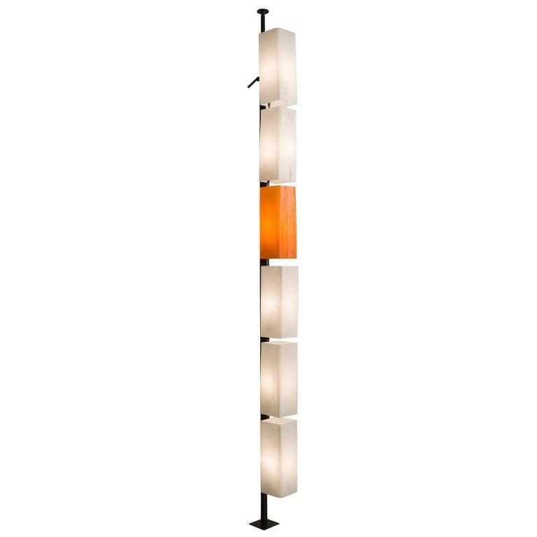 Tall Italian Postmodern Glass Floor Lamp, 1970s