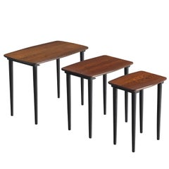 Set of Three Scandinavian Nesting Tables