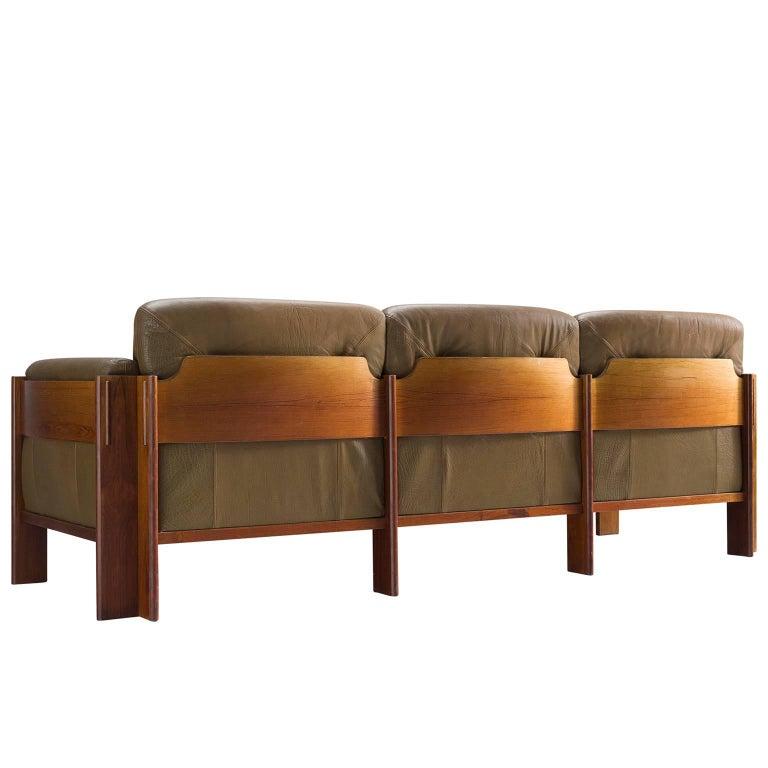 Dutch Three-Seat Settee in Original Leather