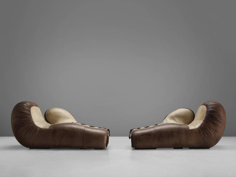 De Sede Boxing Gloves Lounge Chairs Circa 1975 For Sale