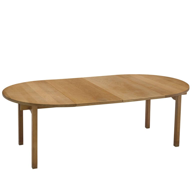 Kurt Østervig Oak Dining Table by KP Møbler