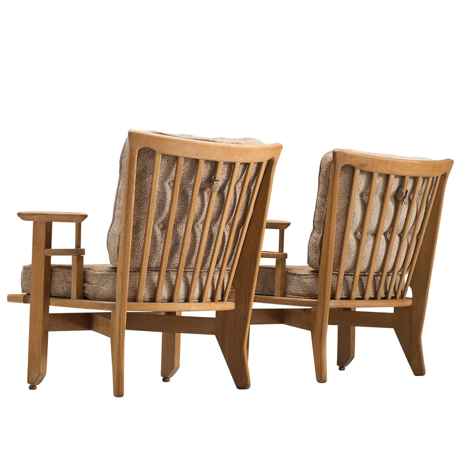 Guillerme U0026amp; Chambron Carved Solid Oak Chairs