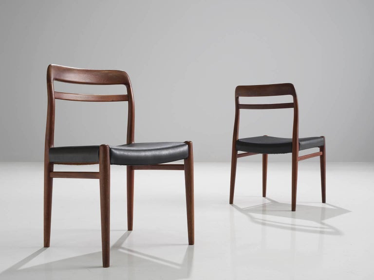 Mid-20th Century Large Set of 14 Norwegian Teak Dining Chairs by Alf Aarseth For Sale