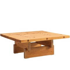 Architectural Coffee Table in Pine