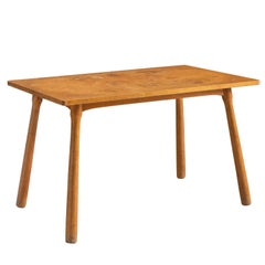 Danish Patinated Side Table in Beech