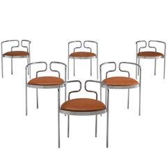 Henning Larsen for Fritz Hansen Tubular Leather Chairs